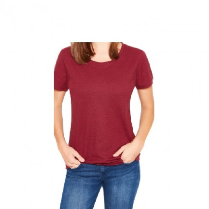 Hemp tshirt-bordo