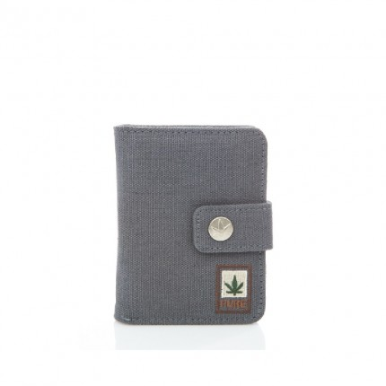 Hemp wallet grey-PURE