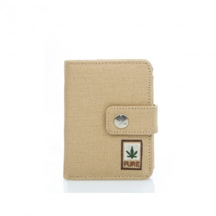 Hemp wallet beige-PURE