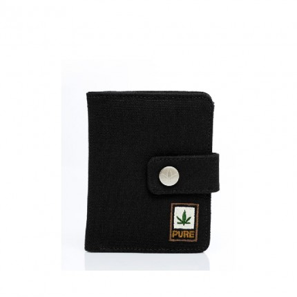 Hemp wallet black-PURE