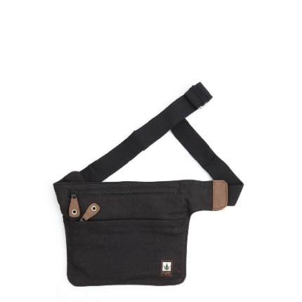 Hemp belt bag black-PURE