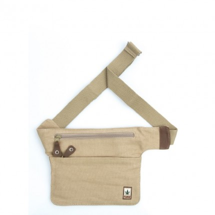 Hemp belt bag beige-PURE