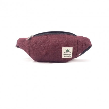 Hemp belly bag bordo-HEMPALAYA