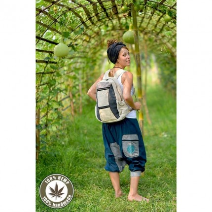 Hemp backpack-Wanderlust