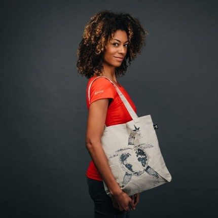 """Desolation"" hemp tote..."