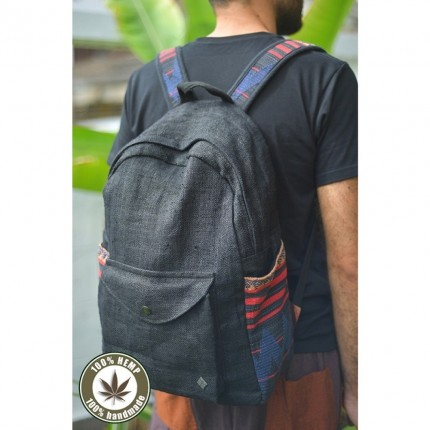 Hemp backpack-Globetrotter