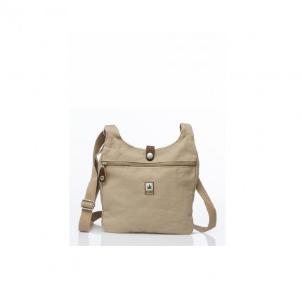 Small hemp bag beige-PURE