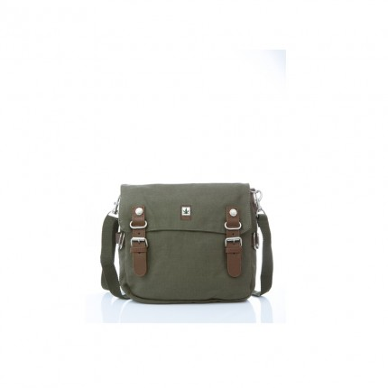 Hemp shoulder bag chaki-PURE