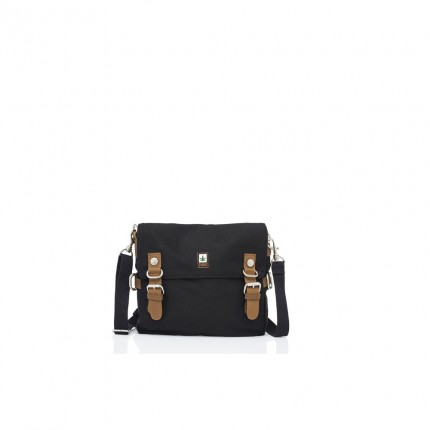 Hemp shoulder bag black-PURE