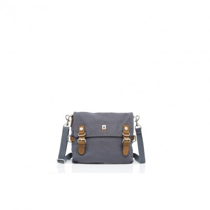 Hemp shoulder bag grey-PURE