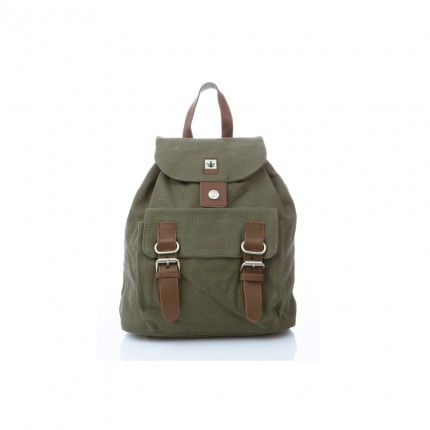 Hemp backpack chaki-PURE