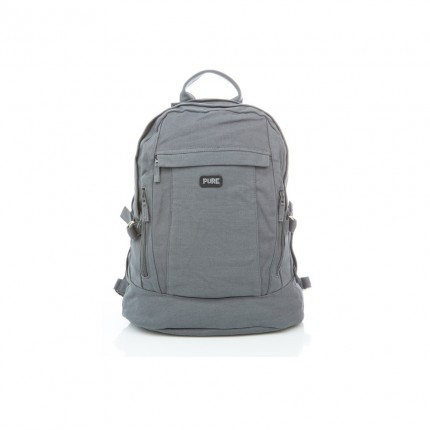 XL Hemp backpack grey-PURE