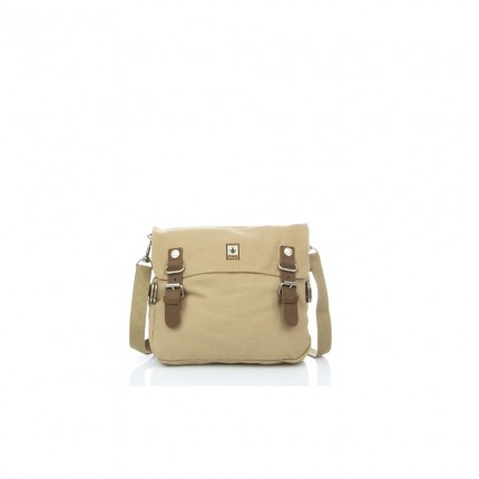 Hemp shoulder bag beige-PURE