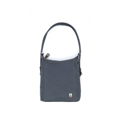 "Hemp bag ""2in1"" grey-PURE"